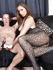 Paige loves to toy with hard cocks as it makes her feel so dominant.
