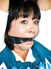 PD ties up Nyssa Nevers and starts with a bit of tickling. It does not hurt and she
