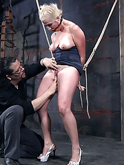 Niki is a flexible submissive with a very hot talent. When she cums she squirts enough