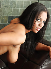 Big ebony tits of a beautiful babe Alia Starr get covered with cum