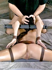 This is Sofia Delgados first bondage shoot ever. She has only been in the industry