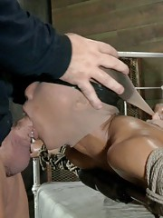 Jack Hammer utilizing an amazing body of ebony babe Nikki Darling