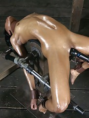 Flexible Nikki Darling gets ebony fucked by Jack Hammer and his friend