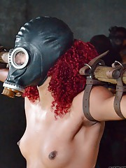Amazing ebony cutie Daisy Ducati gets tortured and squirts on herself