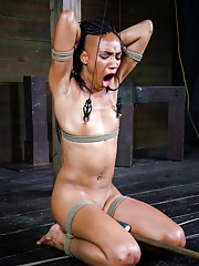 Ebony BDSM video displayed by one and only beautiful Nikki Darling