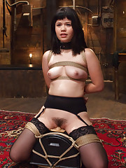 Yhivi in heavy bondage and hardcore sex crazy gags deep throat cock suckings heavy