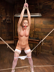 Brutal bondage grueling torment and screaming orgasms make Carter Cruise a happy