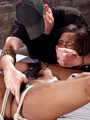 BDSM ebony video with Chanell getting dominated and tortured
