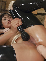 Mia Li tries to take a fist in the ass for the first time. As a reward for her efforts