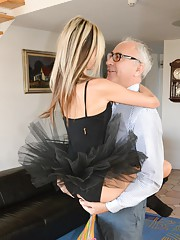 With her black small tutu with open crotch what can i do