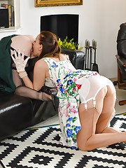 Lara does what she does best licking and fucking a hot girl