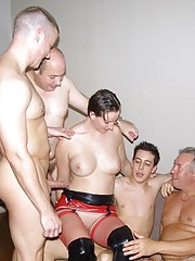 Lara is ravaged by 4 horny men who all want to fuck her hard