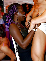 CFNM party with attractive ebony ladies who just want to fuck