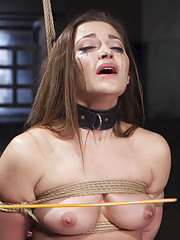 All natural slave girl Dani Daniels faces her fear of the cane in this hard slave