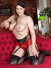 So you want a loan from banker Victoria? Perhaps if she strips and shows her raunchy