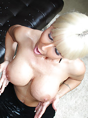 Mature blonde Casey jerking off her brother in-law