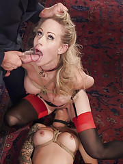 Busty anal slut Karmen and MILF Simone are destroyed serving a horny crowd. Their