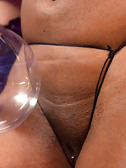 Ebony BDSM video featuring two lesbians and a lot of creative toys
