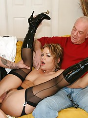 Hot Wife Kelly Fucks New Younger Cock While Hubby Watches