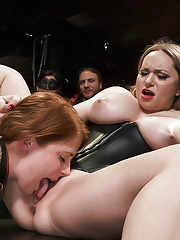Come shot orgy of cock service and discipline on the Upper Floor with Aiden Starr
