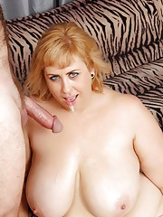 Big-titted plumper Amazon Darjeeling sucks n fucks and then takes it up the ass