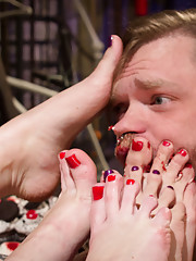 Veruca James Cherry Torn Bellas Rossi use their ass pussy feet and strap-ons to fuck