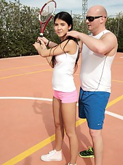 Lady D gets some deep fuck tennis lesson from her teacher