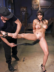 Big titted latina Luna Star made into a bondage sex slave for a day