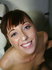 Cute amateur fucked by black cock in a bathroom stall