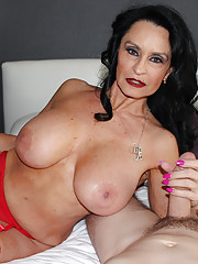 Daniels is a true professional MILF cock milker and she makes this guy cum shot hard