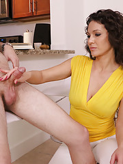 Jessica Torres is here to help but only after teasing him so much his cock twitches
