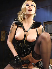 Maitresse Madeline mummifies slave boy and fucks his cock until he uncontrollably
