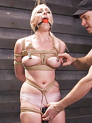 Lorelei Lee submits to hardcore anal sex and heavy rope bondage at the hands of a