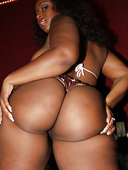 Horny black BBW Sky enjoys pleasuring a thick gloryhole shaft
