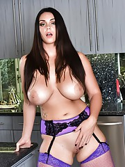 Alison Masturbates in the kitchen