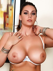 Alison Tyler in her white bra and panties