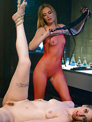 Ela Darling plays Mona Wales clone in a kinky lesbian fantasy filled with bondage