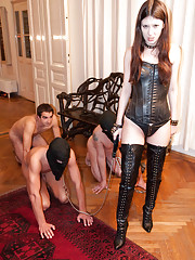 Sexual mistress loves fucking her slaves