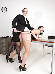Mistress dominates a fat slut roughly