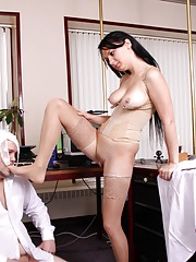 Dominant German milf loves to abuse men sexually