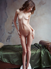 Yani A flaunts her lean and petite body with ever-erect nipples as she poses sensually