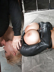A leather straightjacket is probably the perfect outfit for Alyssa Lynn. Its great
