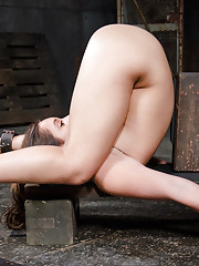 Jean Michaels is getting pounded in one of the most punishing positions possible.