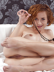 This sexy redhead knows how to tease you with her dirty fantasy as she gets wild
