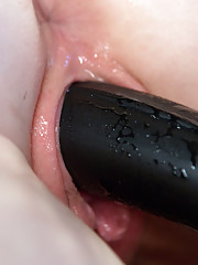 Bella Rossi electrosexes newbie with electrified plugs and dildos the zapper the
