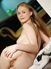 Blue-eyed darling Nancy with smooth creamy complexion and magnificent round assets.