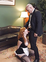Lady of the house Roxanne Rae catches her swaggering husband Derrick Pierce fucking