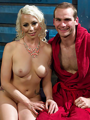 Goddess Lorelei Lee uses her wet pussy and sweaty feet to tease and torment slaveboy!
