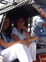 Two sexy Filipina nurses give special care to lucky tourist