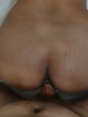 Chubby Filipina amateur takes a white cock deep in her ass
